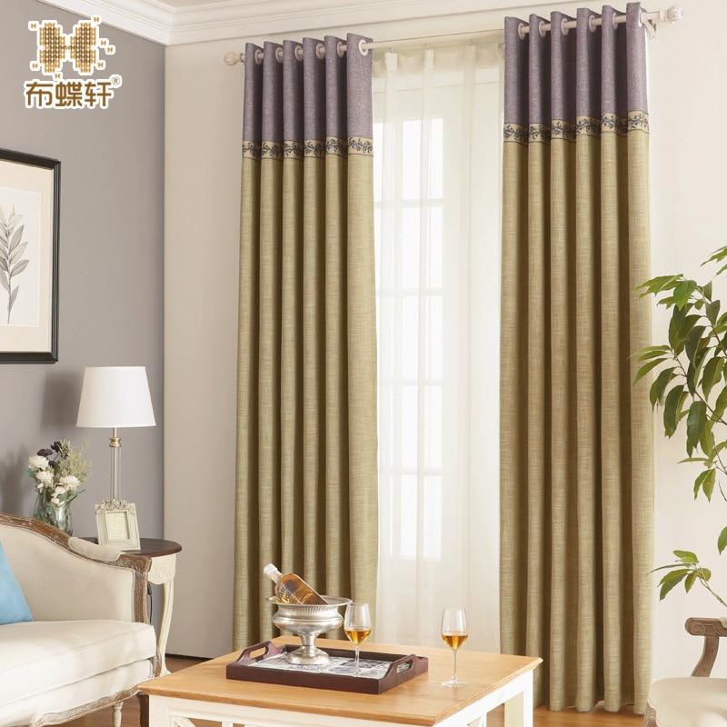 Moderno estilo simple retro azul persianas para dormitorio con