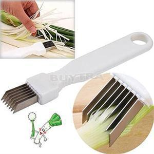 Onion Vegetable Cutter slicer multi chopper Sharp Scallion Kitchen knife Shred Tools Slice Cutlery image