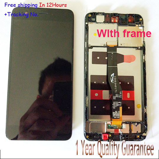 Original! White/Black LCD screen display+touch digiziter with frame For Huawei nova free shipping,Test ok