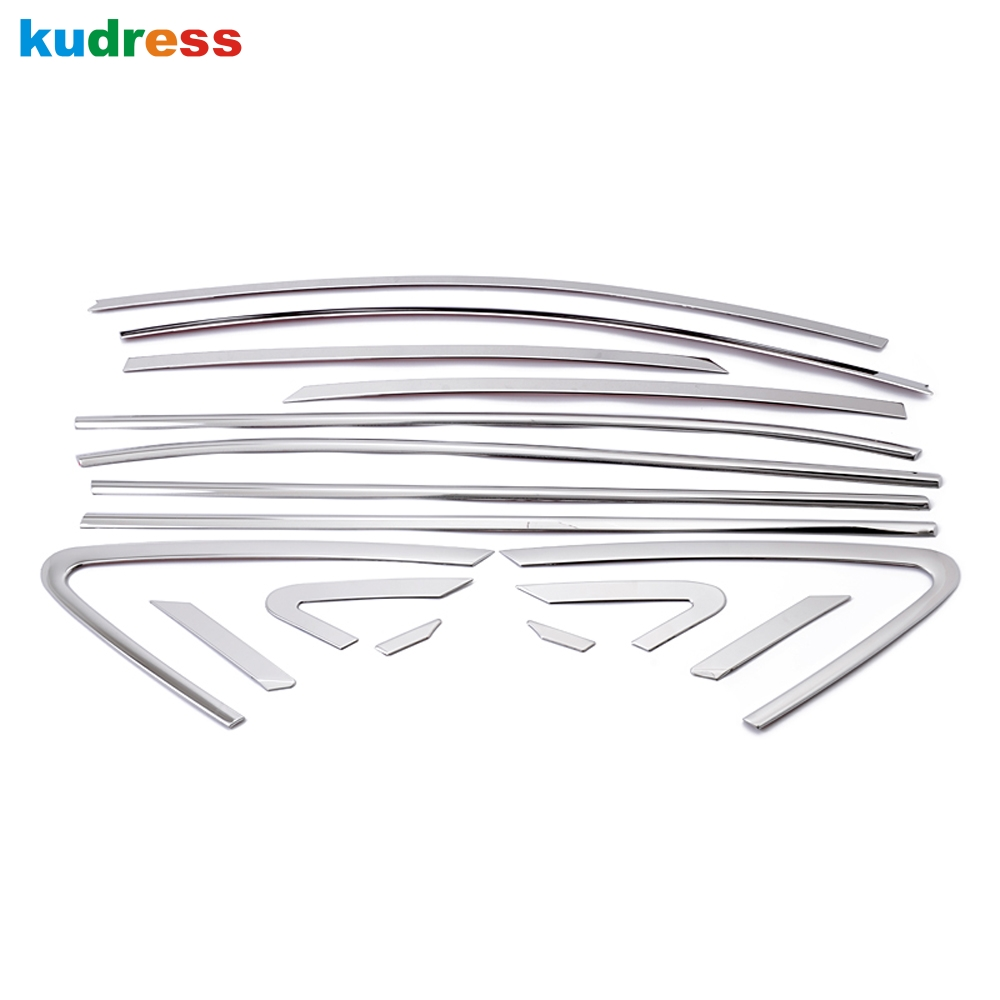 Car Accessories For Hyundai Tucson ix35 2010 2011 2012 Stainless Steel Up and Buttom Window Sill Frame Decoration 16pcs/set high quality stainless steel window trim cover up down posterior triangle a set of 10pcs for 2010 2012 hyundai ix35
