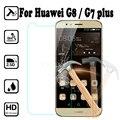 Para huawei g8/g7 plus caso protector de pantalla templado de vidrio para huawei g8 9 h ultra fino anti-explosión película protectora cubierta