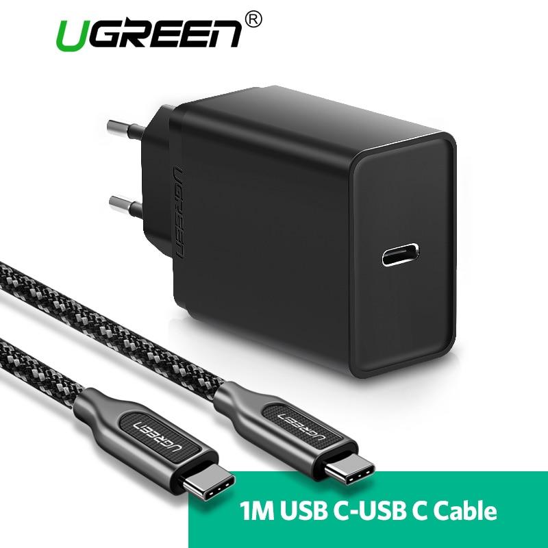 Ugreen 30 W USB tipo C cargador rápido tipo C cargador de pared teléfono móvil PD cargador para Nintendo switch macBook Nexus 6 P/5X Lumia950