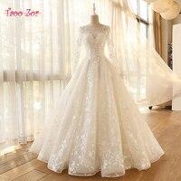 Taoo Zor Vestido de Noiva long sleeve A line Vintage Robe De Mariage Special Lace Design Tulle Sleeves Wedding Dress Factory