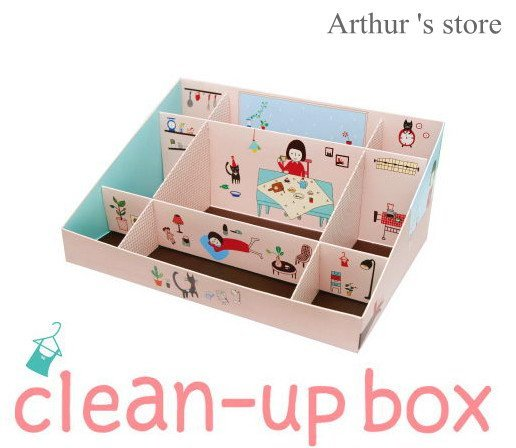 Free Shipping 5pcs cute DIY Table clean up storage box,Paper pen box,Fashion Home Decoration wholesale
