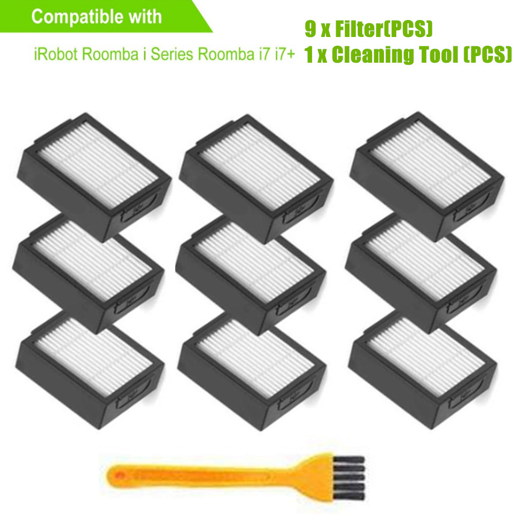 10pcs/lot Filter for iRobot Roomba I Series E Series Sweeping Robot Accessories for iRobot i7 E5 E6 Replacement Filters10pcs/lot Filter for iRobot Roomba I Series E Series Sweeping Robot Accessories for iRobot i7 E5 E6 Replacement Filters