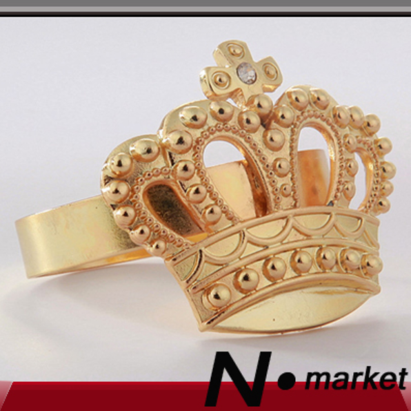 Factory Directly Sale New Pure Color Imperial Crown Napkin Ring Wedding Decoration Napkin Holder Home Ring