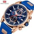 Мини фокус золотые модные спортивные часы для мужчин люксовый бренд Аналоговые мужские часы кварцевые часы мужские часы хронограф силикон...