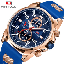 MINI FOCUS Gold Fashion Sports Watch Men Luxury Brand Analog Men's Watches Quartz Watches Man Clock Chronograph Silicone Strap цена