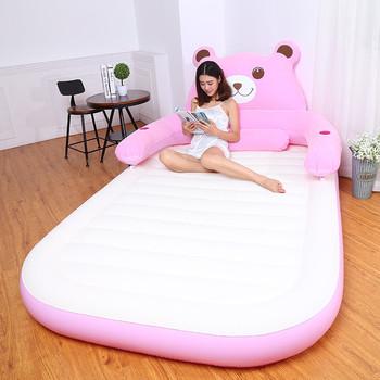 150 CM * 230 CM * 23 CM nadmuchiwane miękkie łóżko z oparciem Totoro łóżko Beanbag składany Cartoon łóżko materace meble do sypialni tanie i dobre opinie Domu łóżko Meble do domu Bedroom Furniture China Cartoon Bed 150CM*230CM*23CM Flocking Folding bear Rectangle bed Nowoczesne