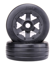 1/5 rc car, Front Slicks wheels set (x 2pcs) fit HPI Rovan baja 5b King motor truck Free shipping