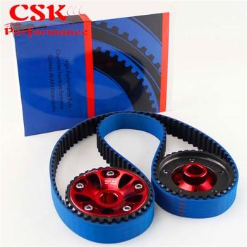 Distributieriem + Cam Gear Pulley Voor Honda B18C Integra GSR 94-01/Type-R 97- 01 zwart/Blauw/Rood