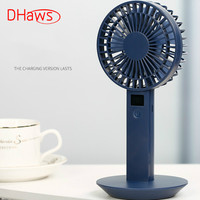 DHaws Portable Handheld Mini USB Fan Air Conditioning Fan Rechargeable Display Screen Desk Hand Dream Fan for Home Office Outdoo