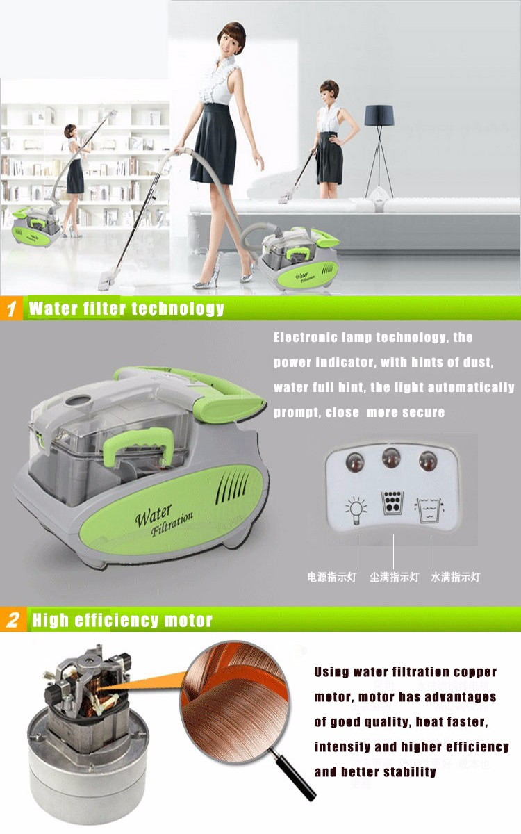 1600w 6l Water Filtration Vacuum Cleaner Washing Wet Dry Signora Noodle Maker Motor Aeproduct