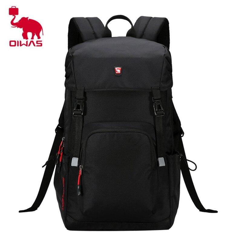 Oiwas 24L Burglarproof Buckle Design Laptop Backpack 3D Suspension Carrying System Travelling Backpack Unisex