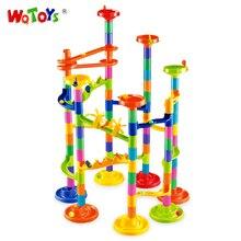 Construção do novo edifício Brinquedos 105 PCS Plástico 3D Bola Labirinto Jogo Para Crianças Blocos de Construção de Brinquedos Educativos Blocos de Dominó Figuras