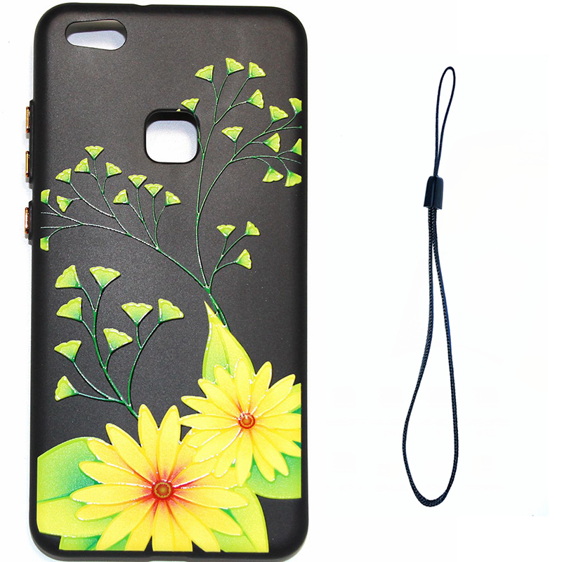 3D Relief flower silicone huawei P10 lite (8)