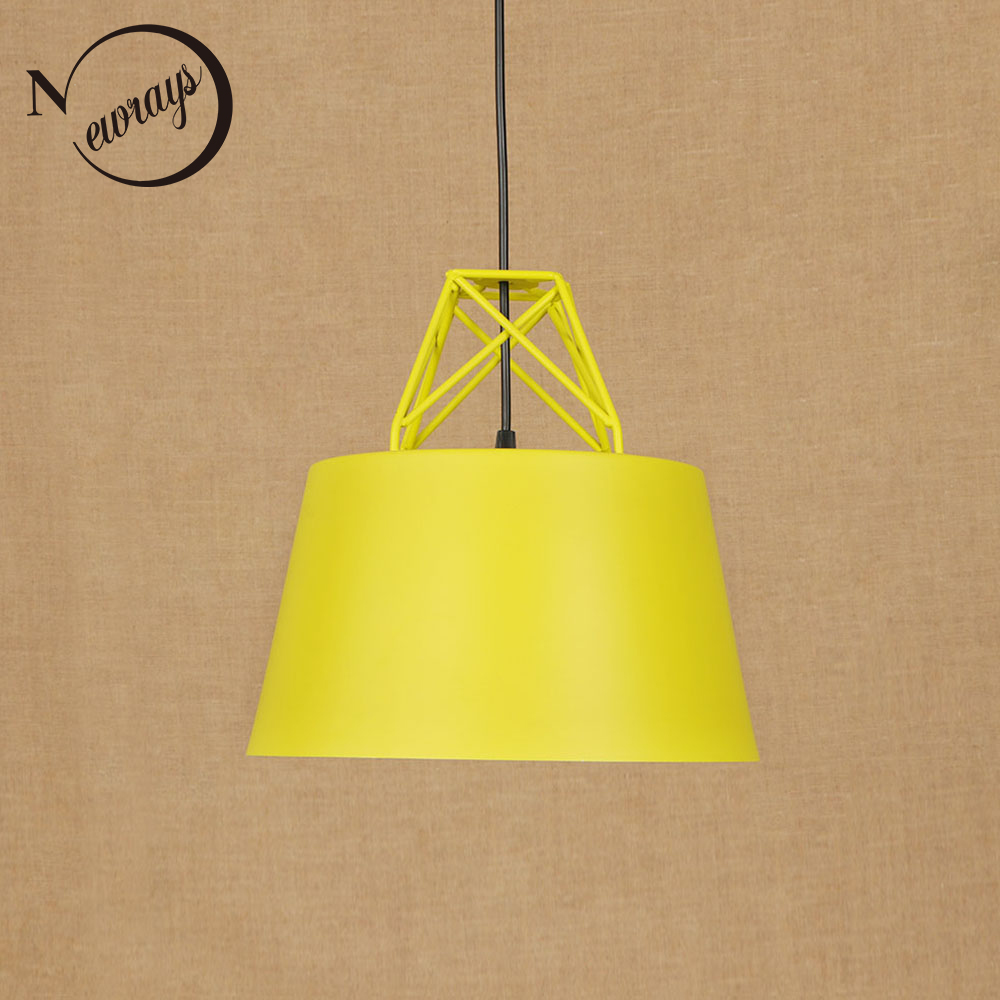 Modern nordic pendant light LED E27 loft deco hanging lamp with 7 colors for dining room bedroom parlor cafe hotel restaurant nordic loft crystal pendant light g10 led modern hanging lamp for bedroom living room hotel restaurant cafe dining room store