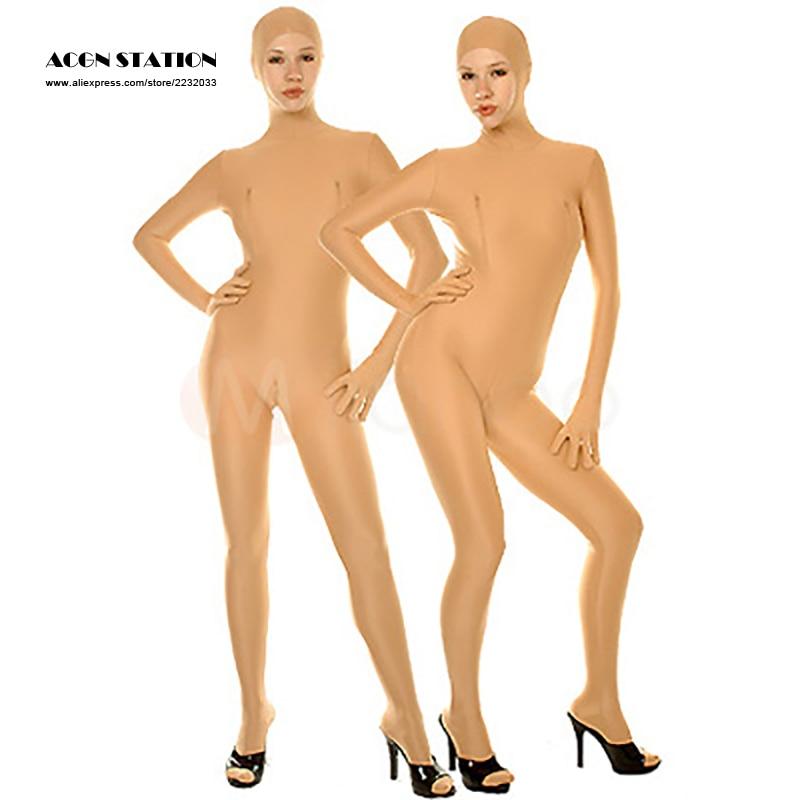 24hours 2018 Жаңа Арзан Хэллоуин Lycra Spandex Catsuit Skin Түсі Bodysuit Rush тапсырыс / Сол күні жүк тасымалдау / 24 сағаттық кеме қызметі