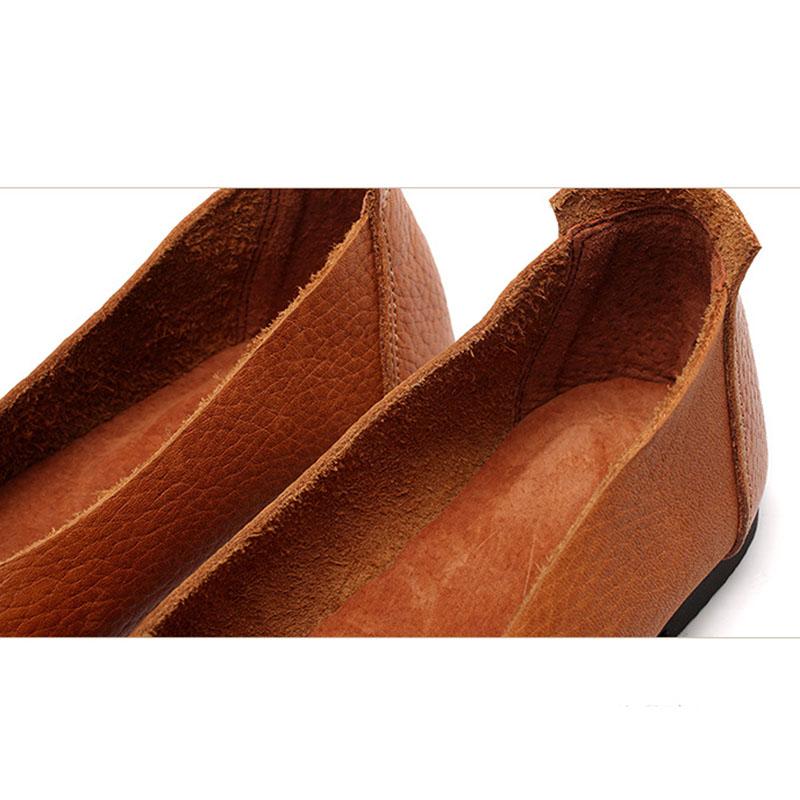 Marron Chaussures Wen Cuir Simples Xiner En Femmes Rétro Main rouge Art Automne Femelle De Japonais Nouveau 6nf4TxFq