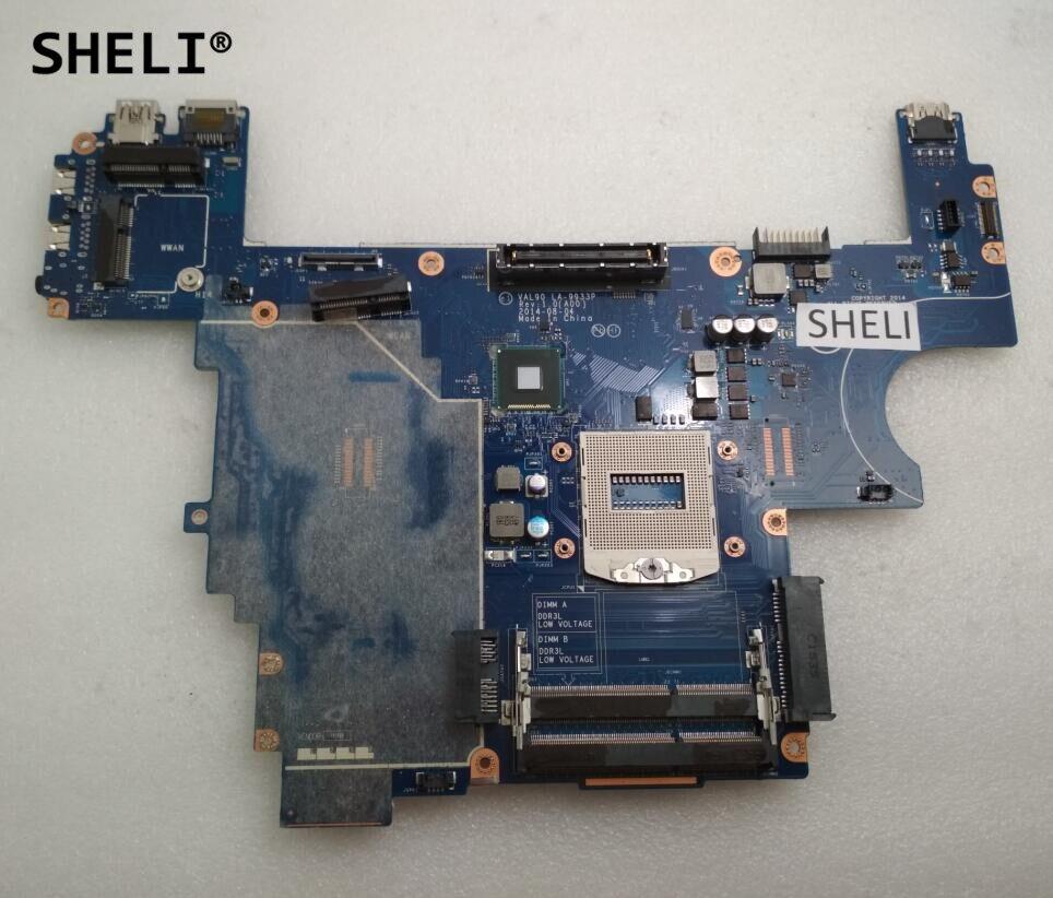 SHELI Pour Dell E6440 Carte Mère LA-9933P Intégré CN-085M2V 085M2V 85M2V