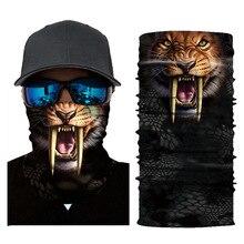 3D Tigers Skull Motorcycle Balaclava Full Face Mask Warm Motor Helmet Liner Ski Paintball Snowboard Biker Riding Shield Hood цена