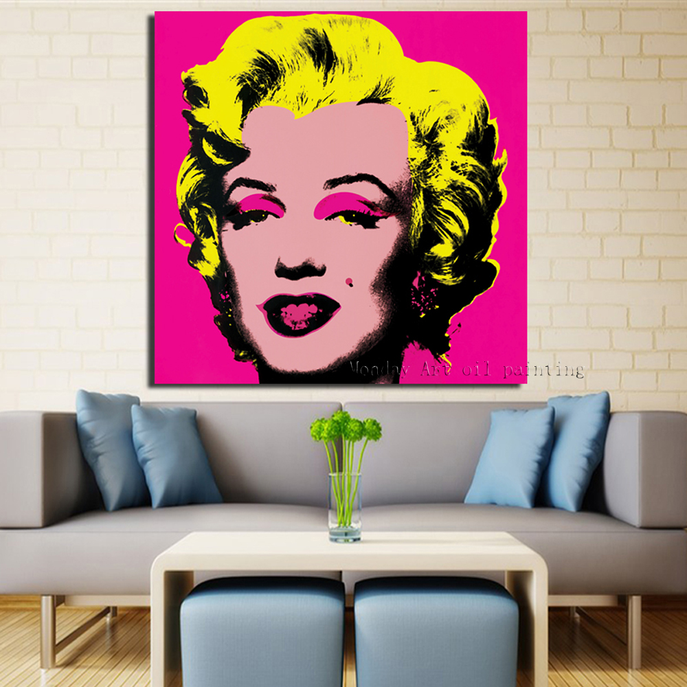 RELIABLI-Andy-Warhol-Marilyn-Monroe-Canvas-Paintings-Pop-Art-Canvas-Print-Posters-Rosy-Color-Modular-Pictures (4)