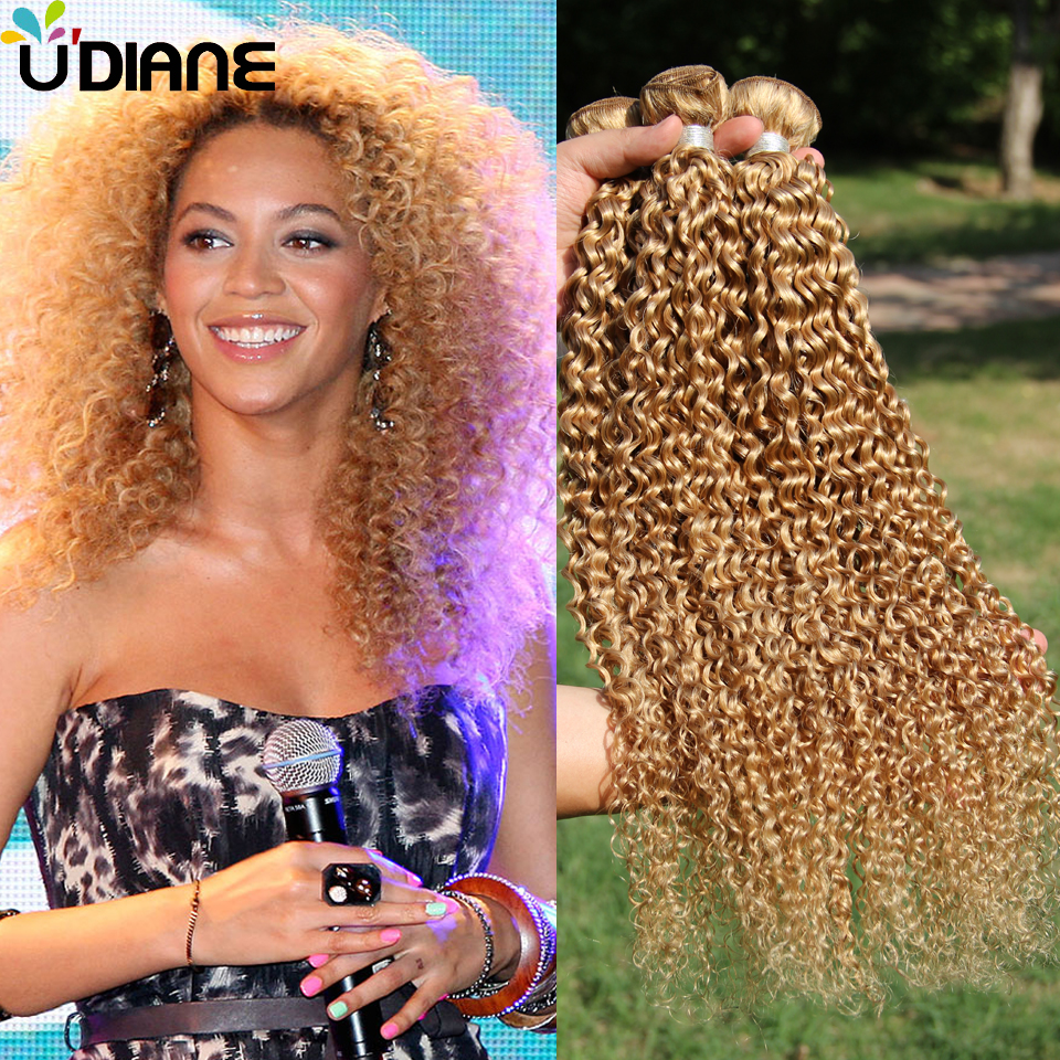 Curly Hair Blonde Hair Extensions Remy Hair Review