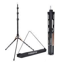 Fosoto 1.9 メートル led ライト三脚スタンドバッグヘッド写真スタジオリング写真照明フラッシュ傘リフレクター用カメラ