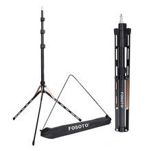 Fosoto 1.9m led ışık tripod standı çanta kafa Softbox fotoğraf stüdyosu halka fotografik aydınlatma flaş şemsiye reflektör kamera