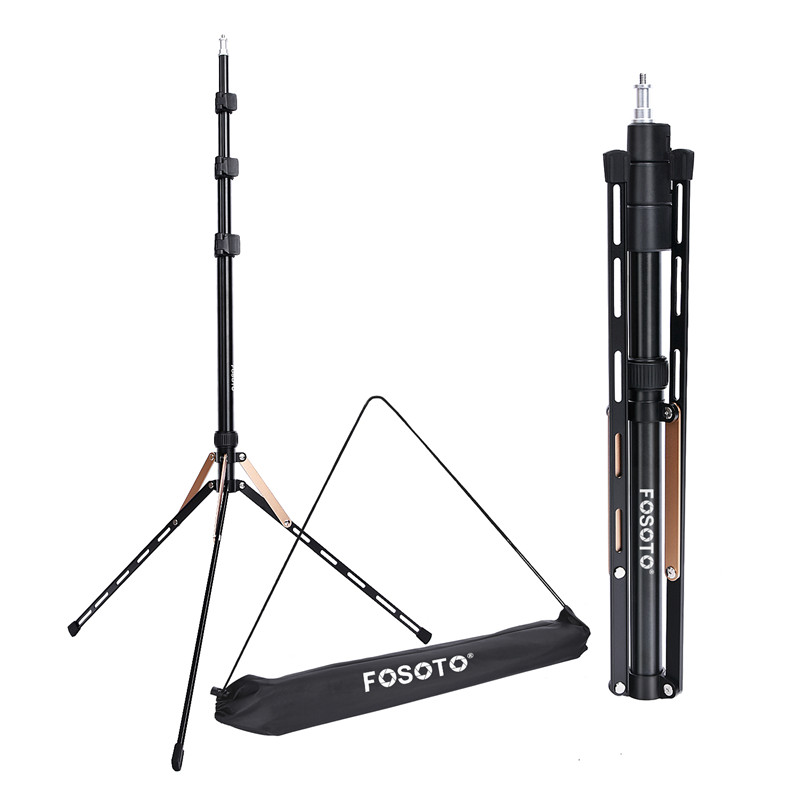 Fosoto FT-190 Gold Led Light Tripod Stand Bag Head Softbox For Photo Studio Ring Photographic Lighting Flash Umbrellas ReflectorFosoto FT-190 Gold Led Light Tripod Stand Bag Head Softbox For Photo Studio Ring Photographic Lighting Flash Umbrellas Reflector