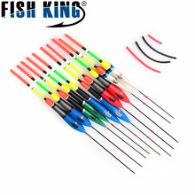 Fish King Brand Different Size Fishing Float bobbers 1g/21cm 3g/25cm 6g/27cm 10pcs/set fishing floats buoys for fishing tackle
