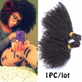 8A Mongolian Afro Kinky Curly Bulk Hair For Braiding 1Pc Human Braiding Hair Bulk Ali express Braiding Hair Rosa Hair Products