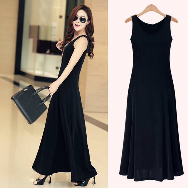 placeholder summer dress women 2018 fashion casual maxi dress plus size  black dresses boho sundress party ladies 4ac2bea4ae4e