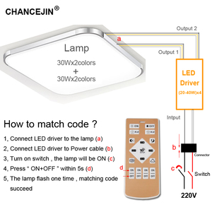 Image 5 - Dimming&color adjusting remote LED driver RF 2.4G LED transformer mobile phone app controller input:AC180 265V output:DC60 135V