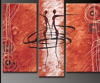 100 Hand Painted Abstract Oil Painting The Dancers 3 Piece Canvas Wall Art Home Decoration Pictures
