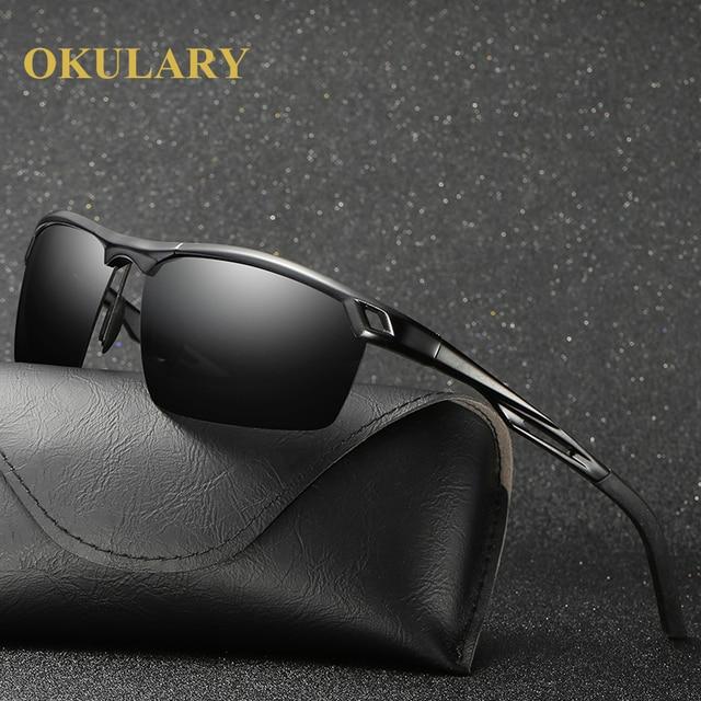 d53c2b47ec 2017 NEW Men s 100% UV400 Polarized Aluminum Magnesium rectangle Sunglasses  Driving Day night vision Sun Glasses Eyewear Goggles