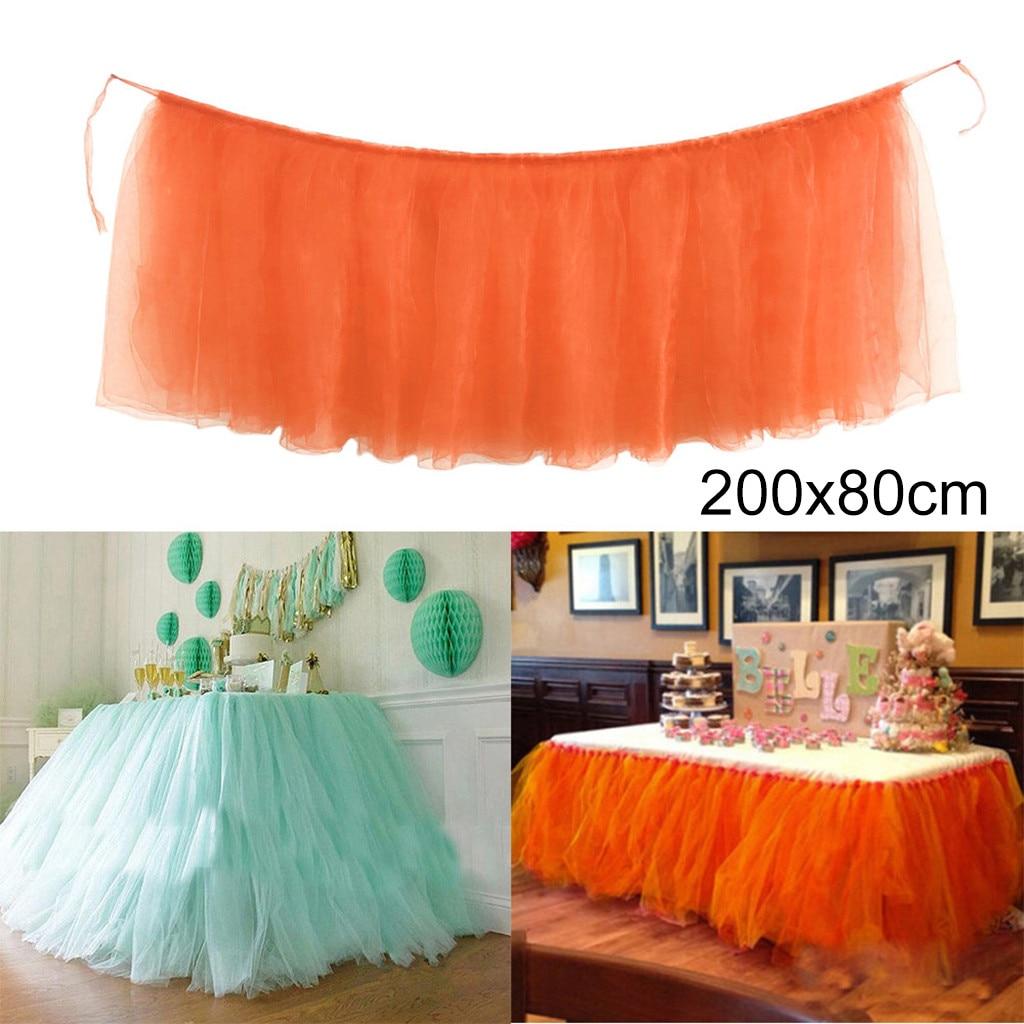 ab5a537c7 Dropshipping 1 PC tutú de tul falda de mesa de tul vajilla para cumpleaños  boda fiesta decoración ...