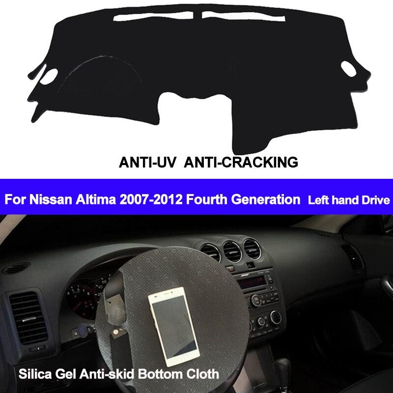 TAIJS Voiture Dashboard Couverture Silicone Non-Slip Mat Dash ANti-UV Pour Nissan Altima 2007 2008 2009 2010 2011 2012 quatrième Génération