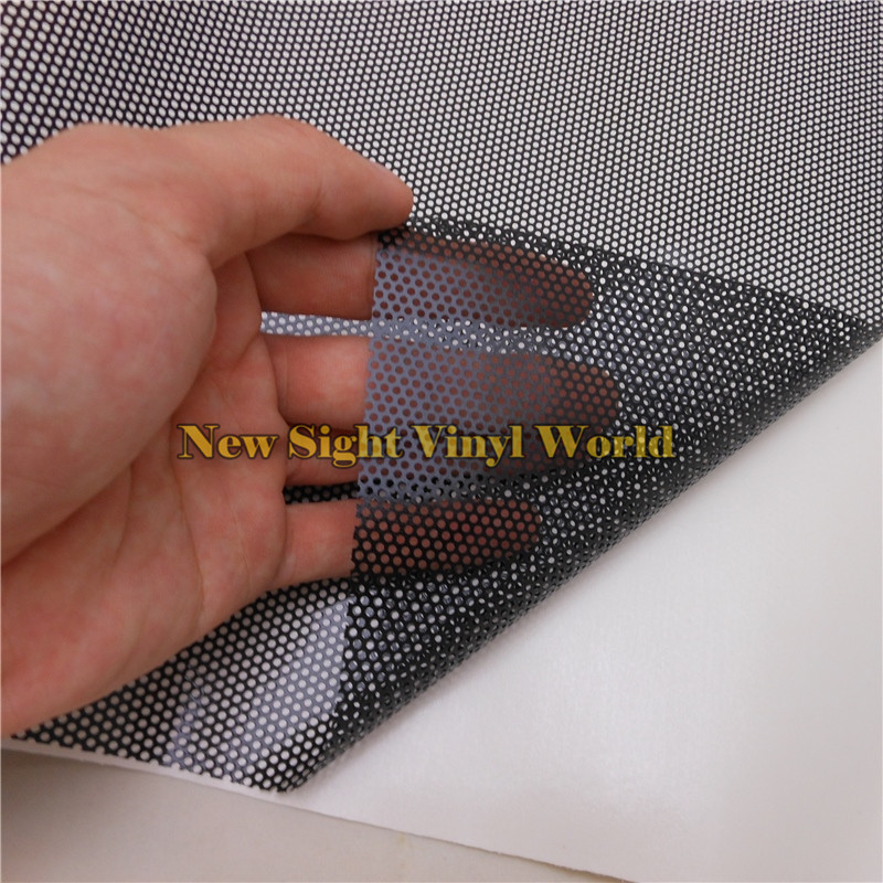 US $937 04 16% OFF|5 Rolls/Lot Black Perforated Vinyl Fabric See Through  One Way Vision Headlight Tint Film-in Car Stickers from Automobiles &