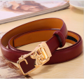 Split Solid Belts Leather female Waist belts for women metal buckle strap heart printed apparel 100%Genuine Cowhide Leather