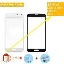 цена на For Samsung Galaxy S5 mini G800F G800H G800 Touch Screen Front Glass Panel TouchScreen Outer Glass Lens NO LCD white black blue