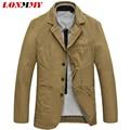 LONMMY 2016 new blazer men suit jacket Cotton suits mens blazer jacket men clothes Casual terno masculino M-4XL