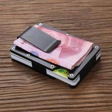 New Metal Credit Card ID Holder Anti-thief Mini Money With RFID Blocking Wallet Automatic