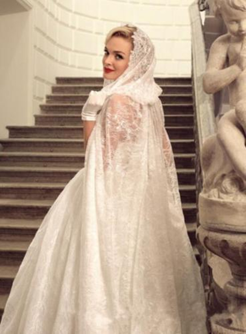 Image 2 - Lace Bridal Cloak Lace Elven Cape Medieval Wedding Cape with Hood-in Wedding Jackets / Wrap from Weddings & Events