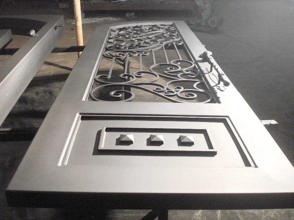Hench 100% Steel Metal Iron House Entry Door With Transom