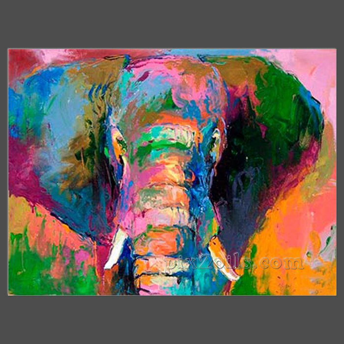 Lovely elephant canvas art oil painting buy directly in for Buy mural paintings