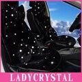 Ladycrystal cojín del asiento de coche cubiertas de encargo de lujo del diamante completo coverd auto cubierta de asiento de coche de asiento de coche para niñas señoras de las mujeres