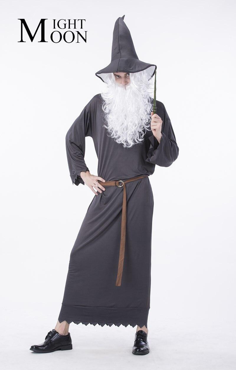 MOONIGHT Men Halloween Costumes Death Wizard Cosplay Costumes Halloween Costumes Party