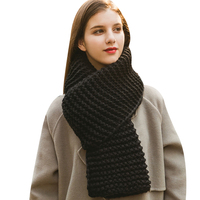 Winter Scarf Shawl Knitted Scarves Collar Neck Warmer 2018 Fashion Unisex Woman S Crochet Ring Loop