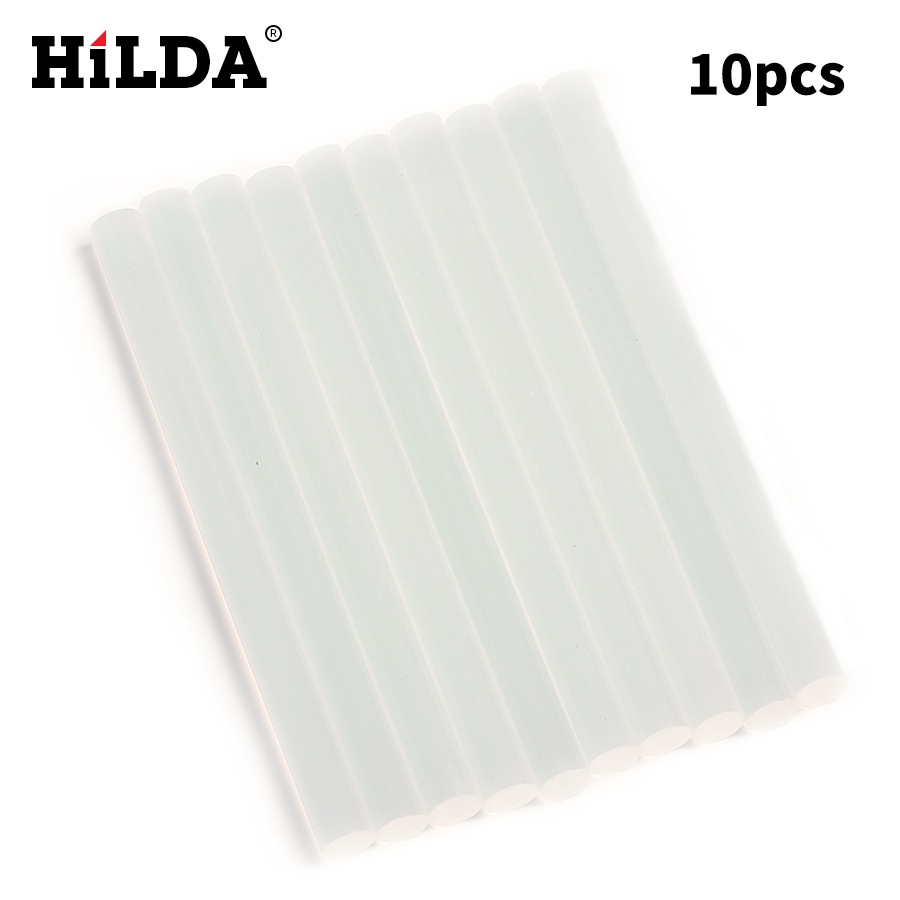 HILDA 10Pcs / Lot 7mm x 98mm میله گرم چسبنده ذوب - ابزار برقی